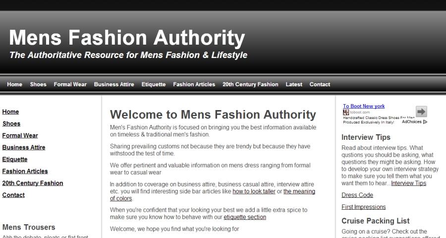 Mens Fashion Authority